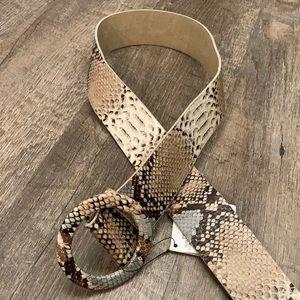 Zara vegan snakeskin leather belt
